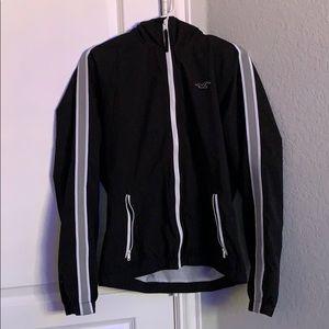 Hollister, black jacket